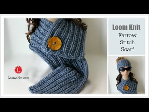 LOOM KNIT Scarf On Round Loom Pattern Project YouTube Cool Scarf Loom Patterns