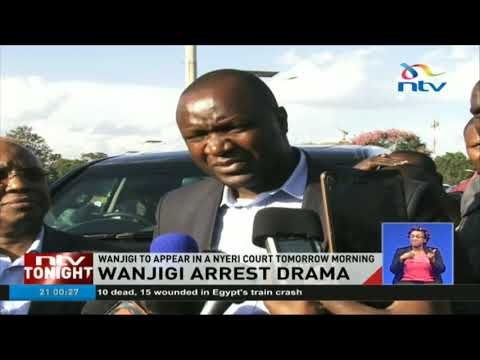 Jimmi Wanjigi involved in dramatic scene as police serve summon to appear in court