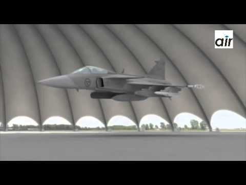 KEY FEATURES REVEALED Swedish Air force Saab Gripen fighter aircraft new