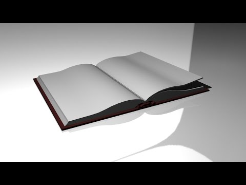 Maya tutorial : How to model an Open Book