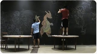 Pokemon Art Chalk Drawing | Gotta Catch Em All