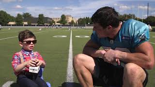 Kids Club Reporter: Luke Kuechly