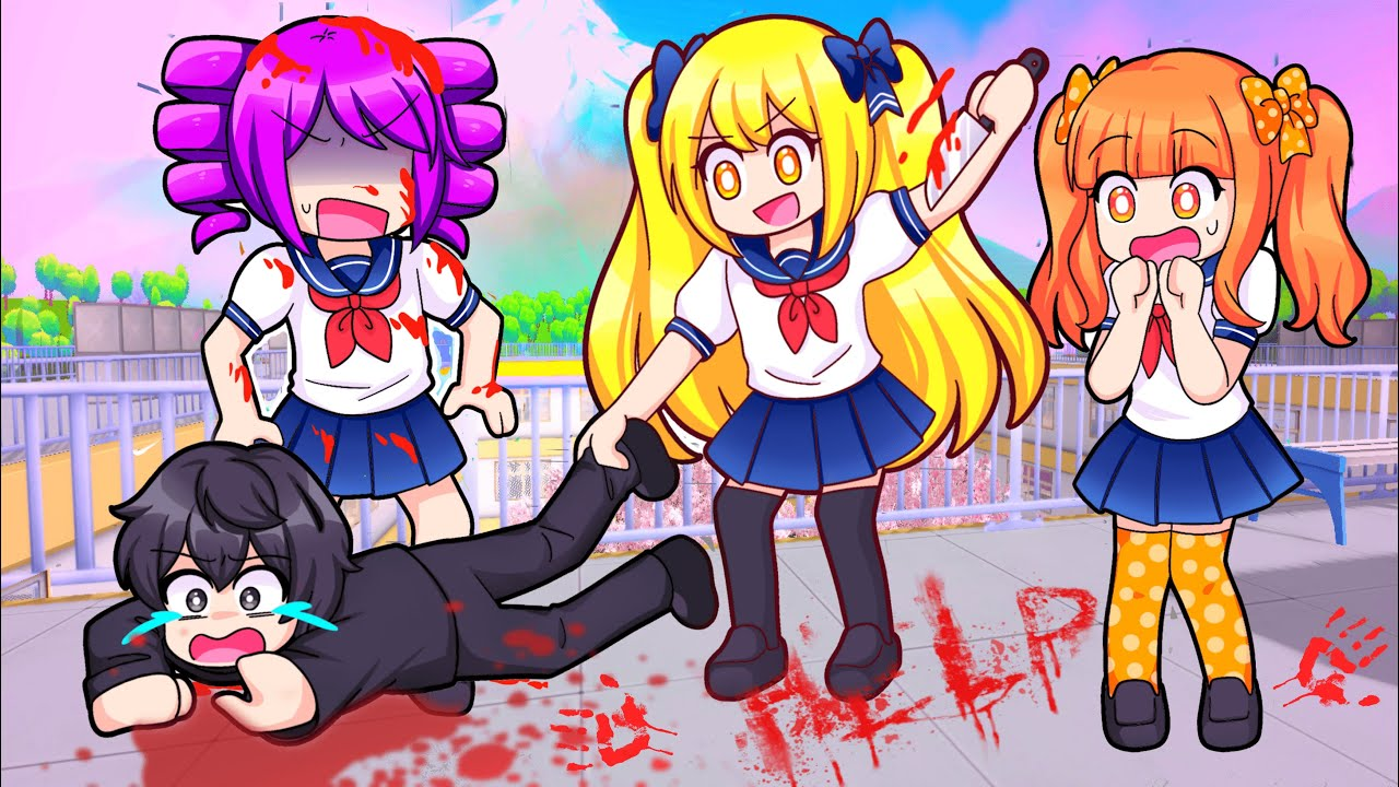 Download The Squad Goes To YANDERE SCHOOL In Roblox…