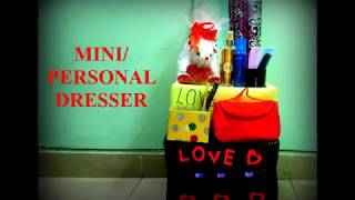 HOSTEL GIRLS MINI/ PERSONAL DRESSER | SIMPLE & EASY TO MAKE