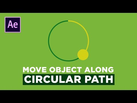 Object along path Animation After Effects Tutorial