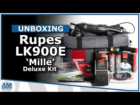 Unboxing Rupes Mille LK900E Deluxe Kit - AMDetails Initial Review