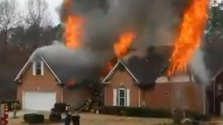 20150314 2nd Alarm WSF with LP Explosion Fayetteville Ga