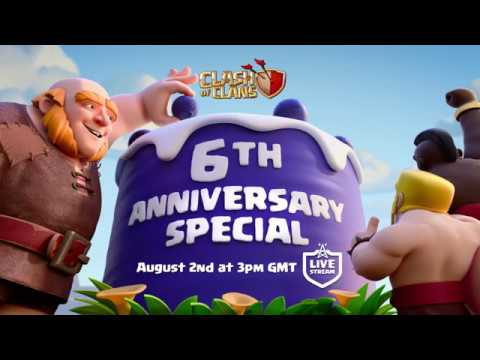 Clash of Clans - 6th Anniversary Stream Coming Soon!