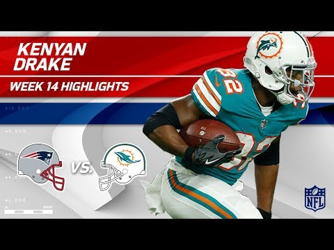 Kenyan Drake Explodes for 193 Total Yards vs. Pats! | Patriots vs. Dolphins | Wk 14 Player HLs