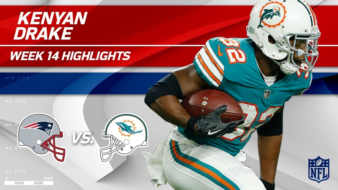 new style 31e13 2358c Kenyan Drake Explodes for 193 Total Yards vs. Pats! | Patriots vs. Dolphins  | Wk 14 Player HLs
