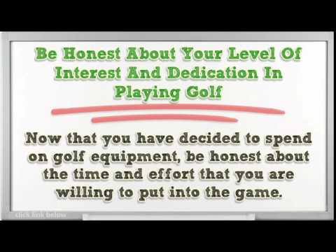 Free Golf Lesson On How To Choose The Best Golf Equipment