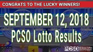 PCSO Lotto Results Today September 12, 2018 (6/55, 6/45, 4D, Swertres, STL & EZ2)