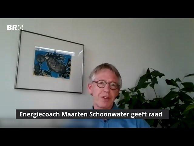 Energiecoach Maarten Schoonwater geeft raad