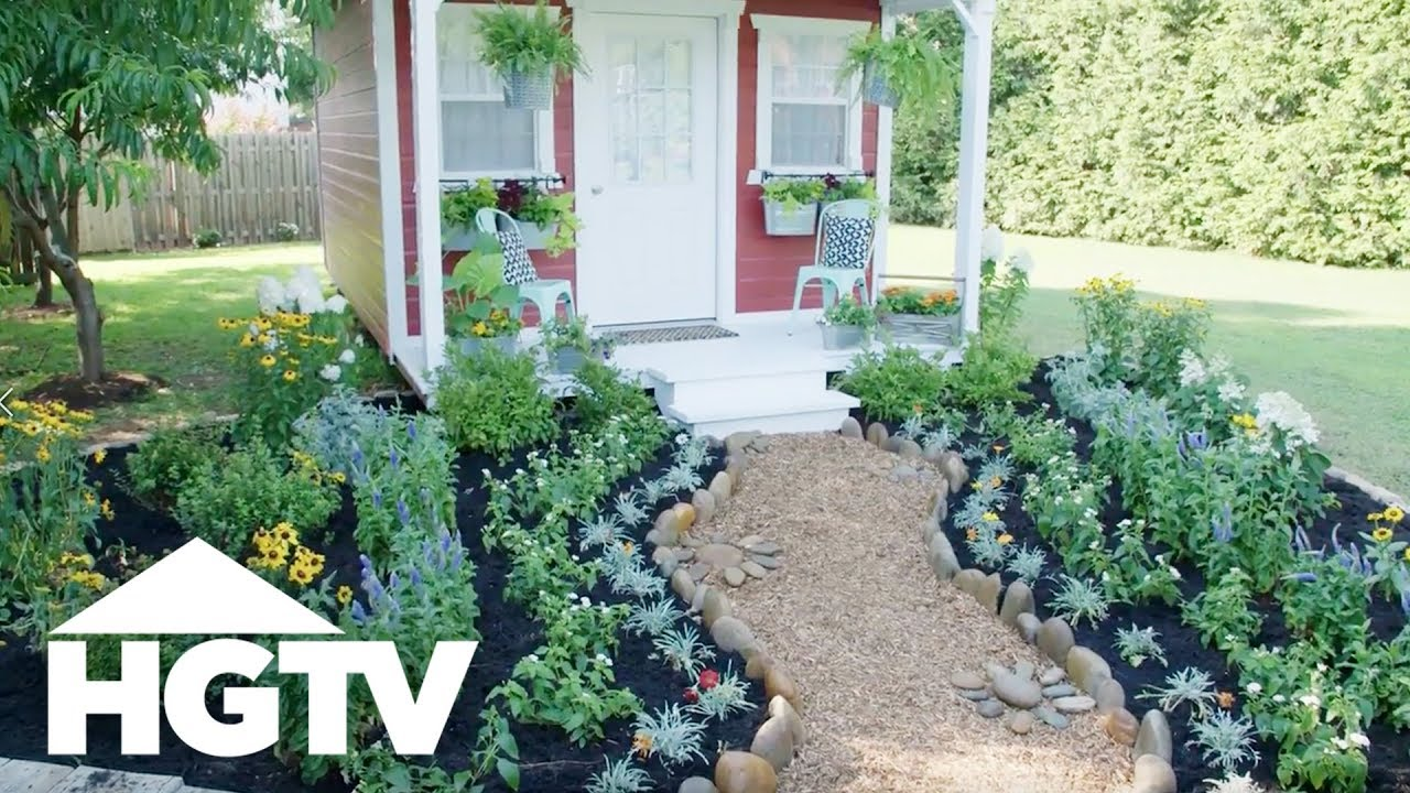Tips For Landscaping Around A Shed Hgtv Youtube
