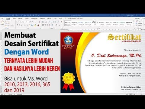Membuat Desain Sertifikat Piagam Penghargaan dengan Microsoft Word
