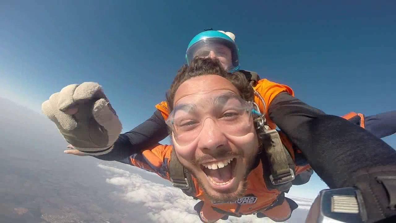 Salto de Paraqueda do Marko na Queda Livre Paraquedismo 31 07 2016