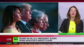 Trump in the UK: US President slams May's Brexit plans