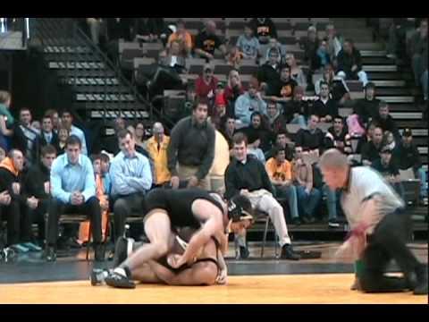 #1 Iowa dominates UNI Wrestling 48-3 12/10/2009 highlights and reaction