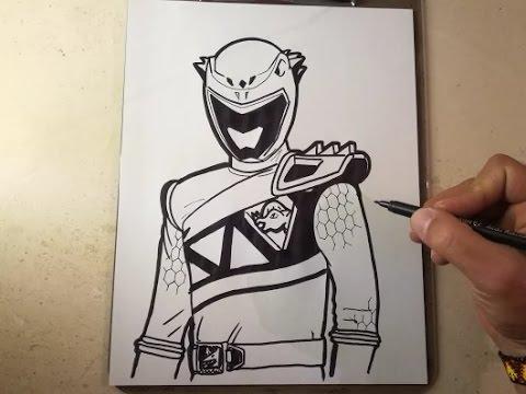How To Draw Power Ranger Dino Charge Grapyte Como Dibujar Power