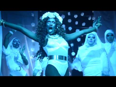 Shea Couleé performing DJ Jalil Z's mix of