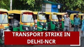 Transport strike in Delhi-NCR against amended Motor Vehicles Act