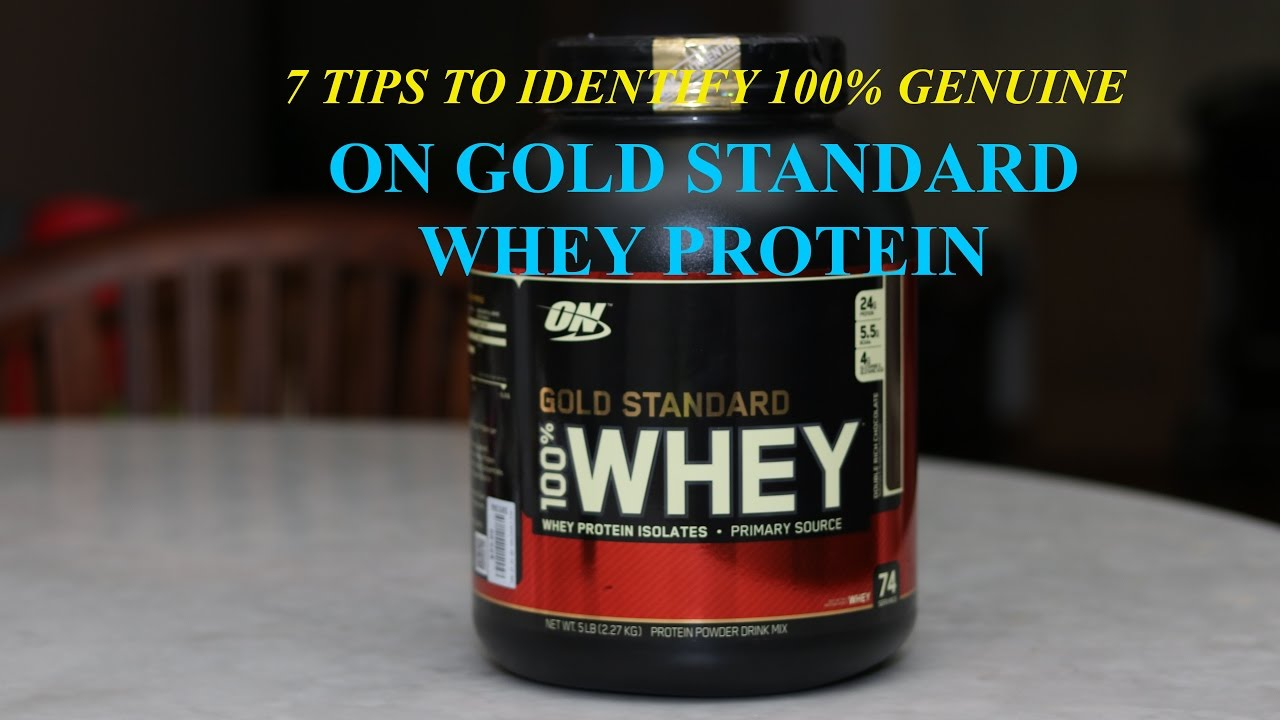 How to identify original Optimum Nutrition whey protein