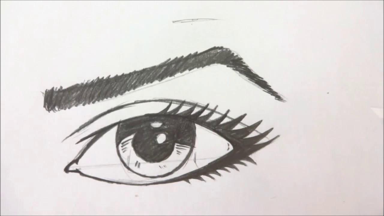 Como Desenhar Olhos Femininos Youtube