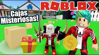 Mysterious Boxes in Roblox Unboxing Simualtor Roblox Karim Games Play