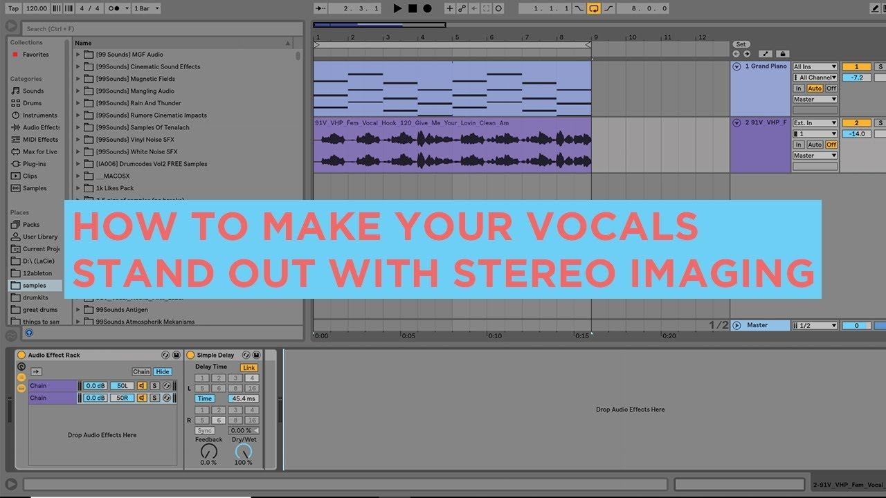 HOW TO MAKE YOUR VOCALS STAND OUT WITH STEREO IMAGING[FREE PROJECT  FILE/PRESETS]