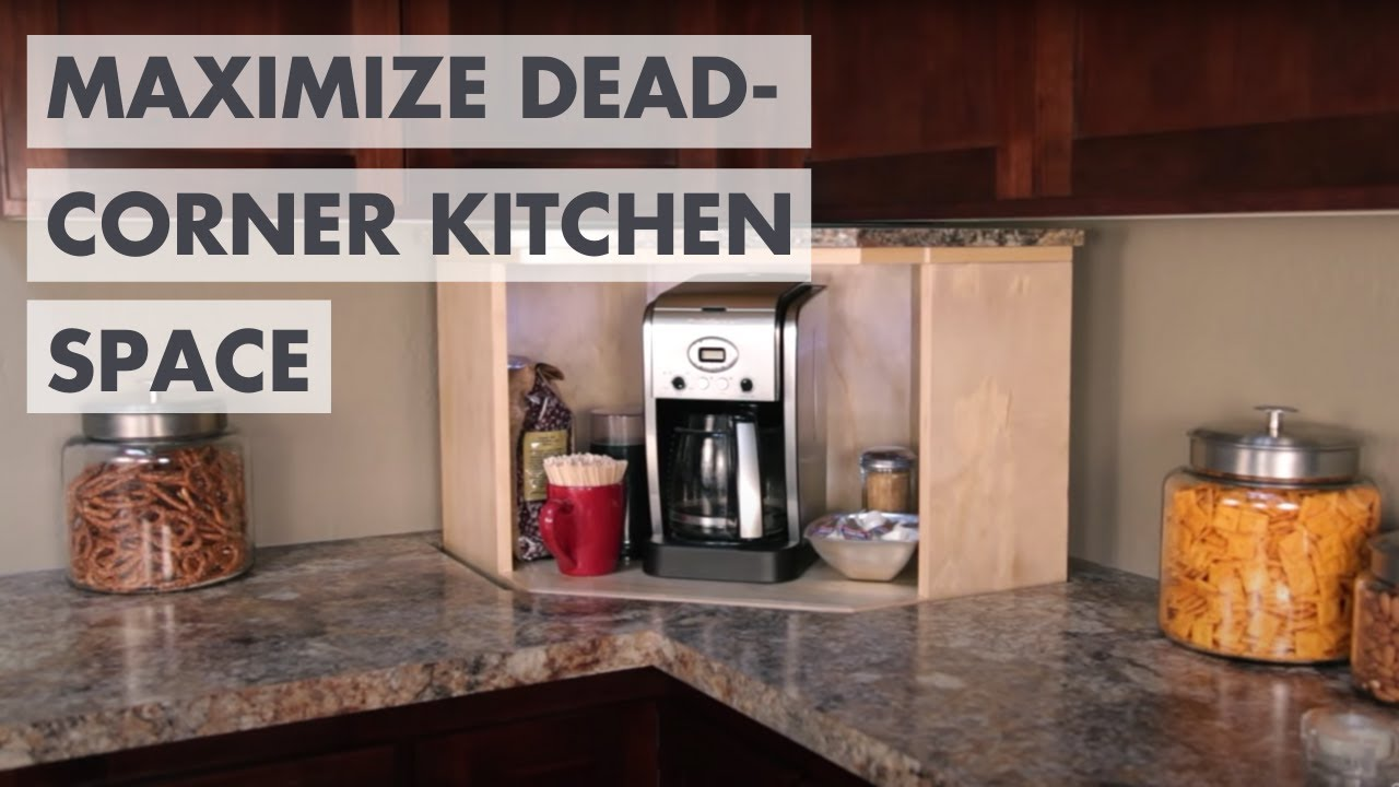 Kitchen corner cabinet wasted space - Dead Corner Kitchen Storage Lift Say Goodbye To That Wasted Space