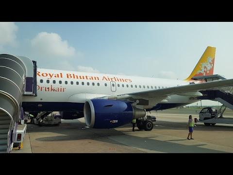Drukair A319 Economy Class ✈ Bangkok to Kolkata KB121
