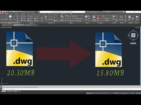การลดขนาดไฟล์ (DWG.)AutoCAD (สนในเรียนAutoCAD-098 5098861)