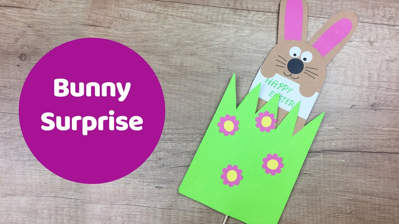 Easter Bunny Surprise Gift Card Great Easter Craft For Kids Youtube