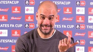 Swansea 2-3 Manchester City - Pep Guardiola Full Post Match Press Conference - FA Cup