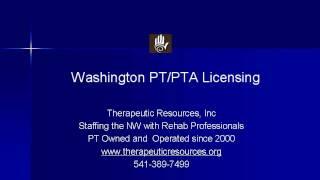 Washington Physical And Pta License Requirements