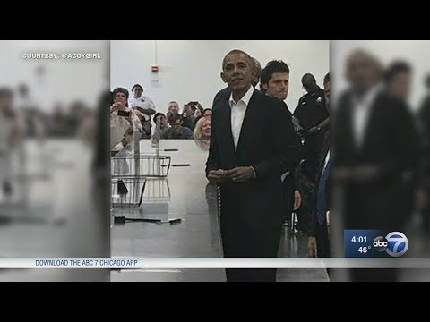 Former President Barack Obama reports for jury duty
