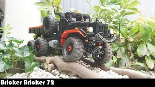 rc lego technic kraz 255b 6x6 trial truck truck t14 controlled with sbrick