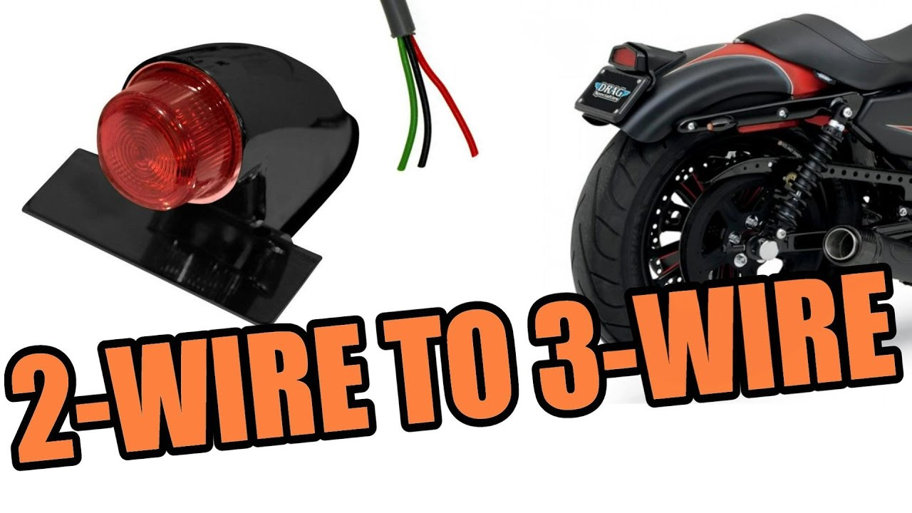2 Wire Tailight To 3 Motorcycle Hd Sportster Youtube Prong Plug Wiring Diagram In Addition 4 7 Way Trailer