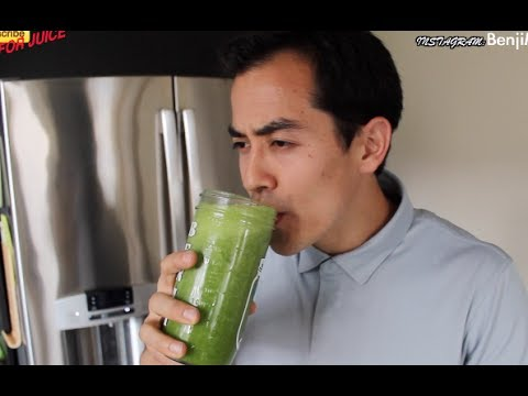 Fastest Green Juice Recipe (quick and easy)- BenjiManTV