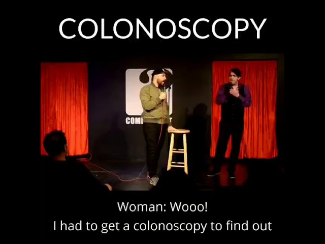 Comedian Nick Larson talks colonoscopies at the Sacramento Comedy Spot (01/19/2020)
