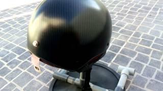 Carbon fiber open helmet before clear coat!