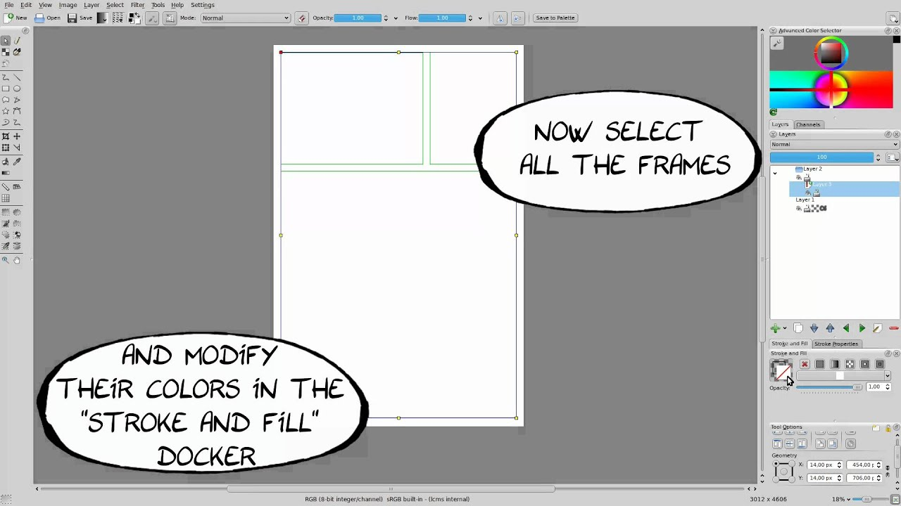 comics with krita dvd tutorial 2 frames youtube