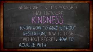 Inspirational Quote - Treasure Kindness (Video)