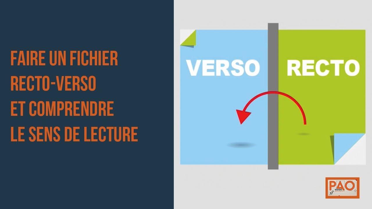 kit pao faire un fichier recto verso et comprendre le sens de lecture