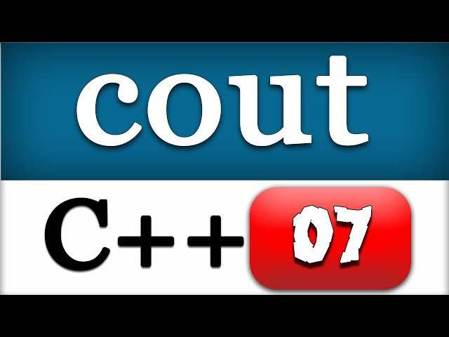 07   C   Console Output with Cout   CPP Programming Tutorial for Beginners - YouTube
