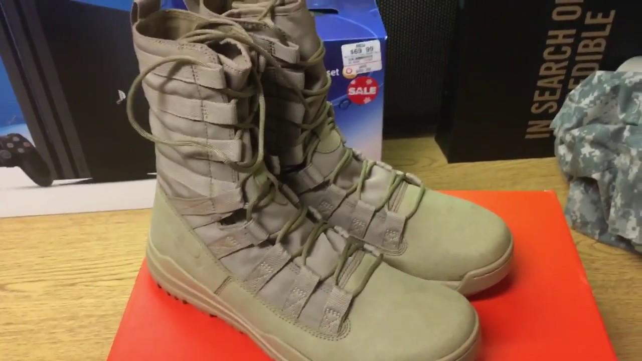 buy online 684bb 6ccac Nike Sfb Gen 2 Combat Boot Quotkhakiquot Review Hd Youtube