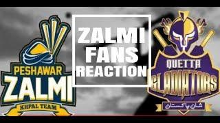 Zalmi Fans Reaction - Zalmi VS Gladiators