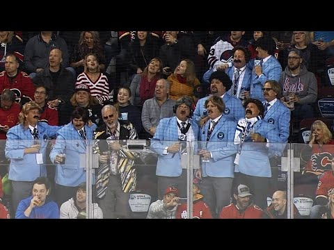 Everybody's into Hockey Day in Canada including the Travelling Blue Blazers?
