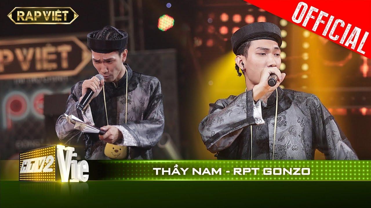 Download RPT Gonzo được Rhymastic gọi là người chơi chữ hay nhất vì bản rap Thầy Nam   RAP VIỆT [Live Stage]