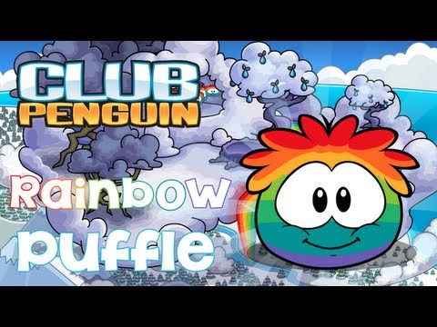 Club Penguin: Adopting the Rainbow Puffle (Puffle Party 2013)